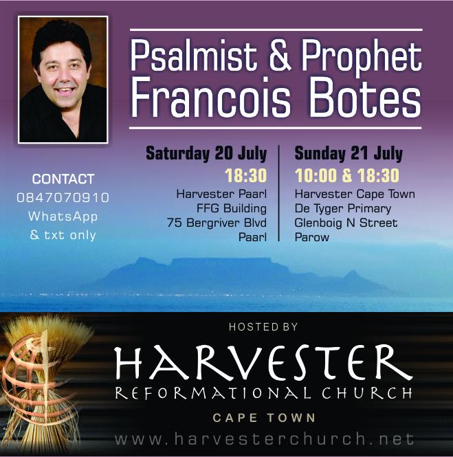 Psalmist And Prophet Francois Botes Harvester Cape Town Harvester Church